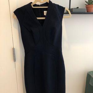 Reiss Navy Wool Sheath Dress